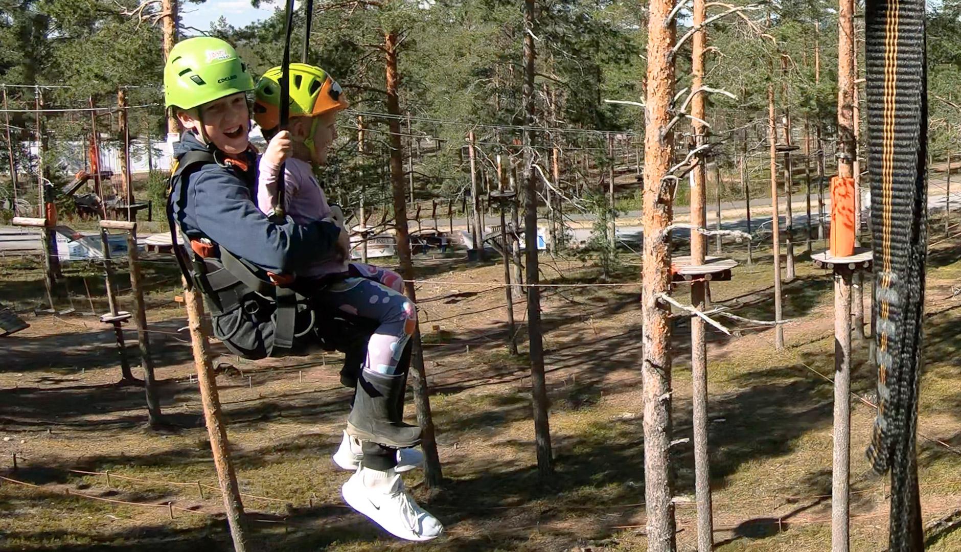 Jami Seikkailupuisto Vaijeriliuku