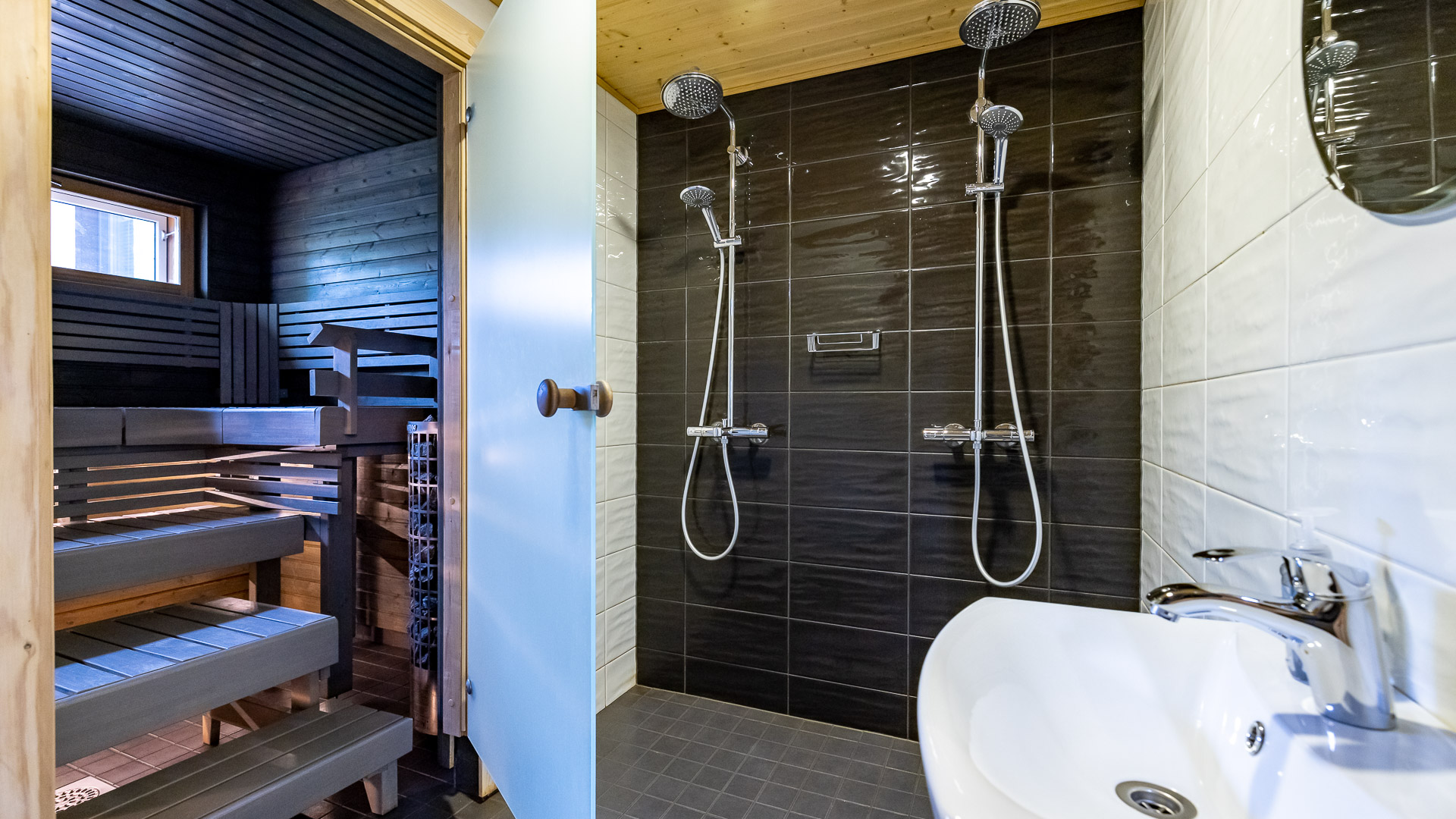 Mökki Jämi Harjula sauna + suihku