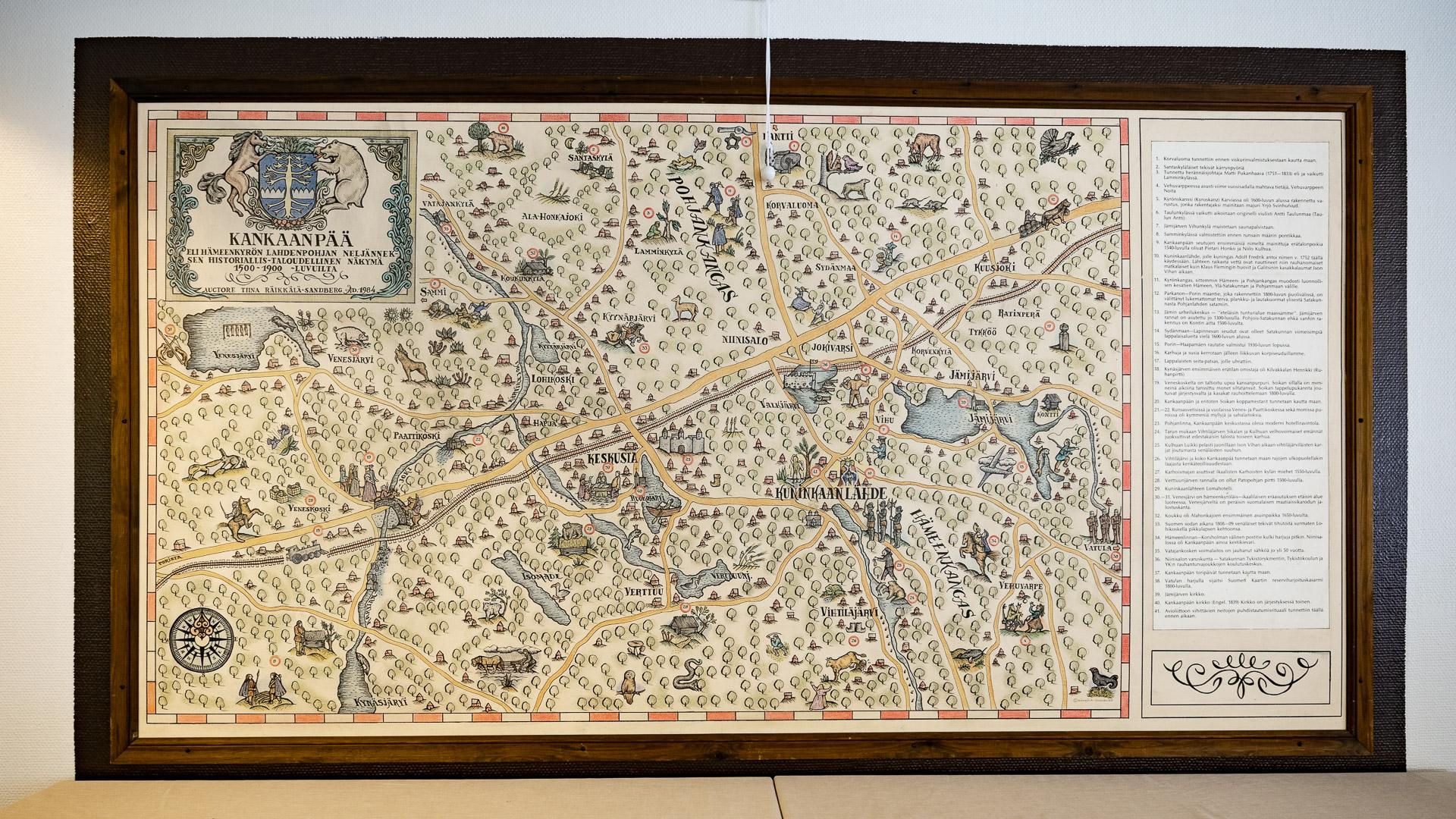 Hostelli Kuninkaanlähde Kartta 1500 1900 Luvulta