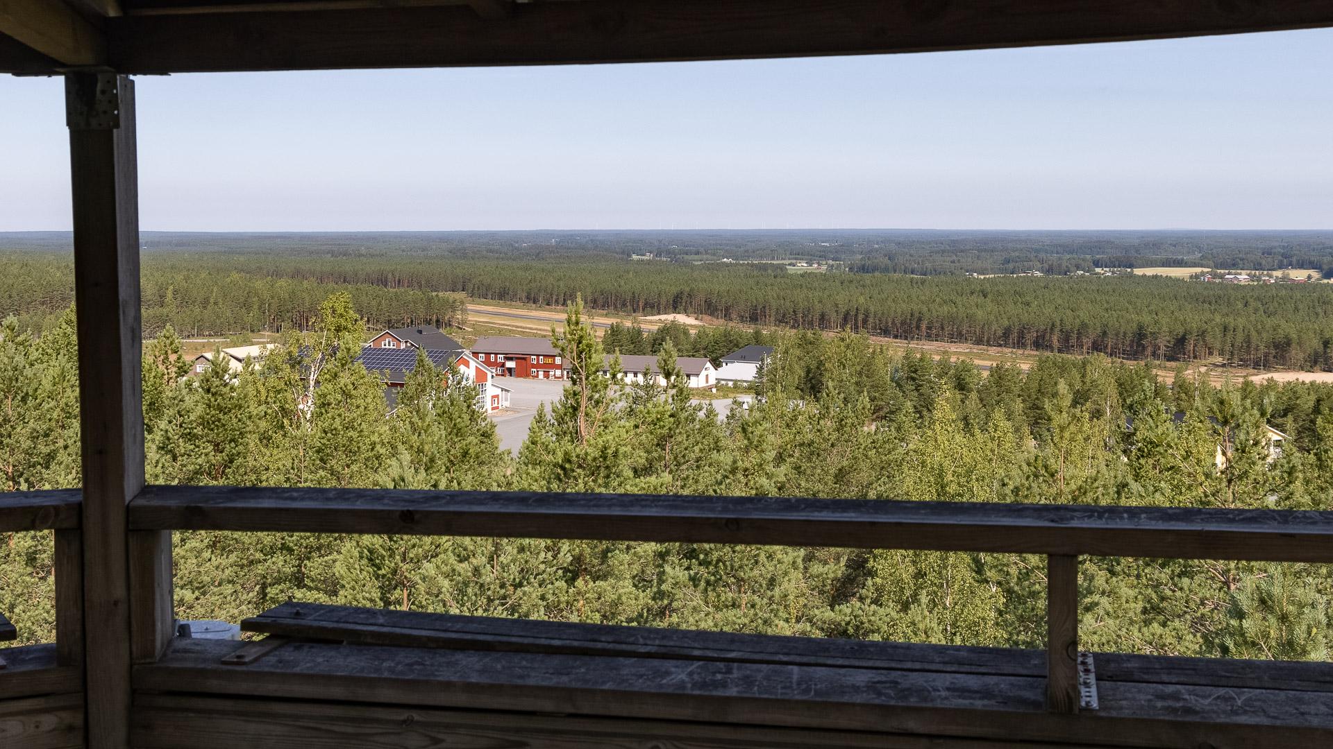 Näkötorni Jämi Soininharju näkymä pohjoiseen